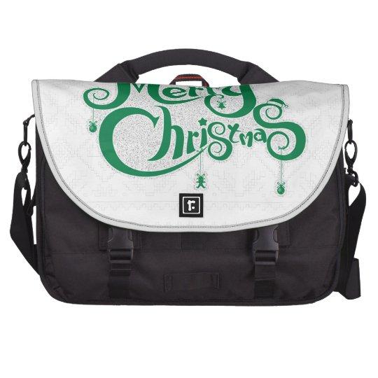 Frohe Weihnachten Notebook Tasche