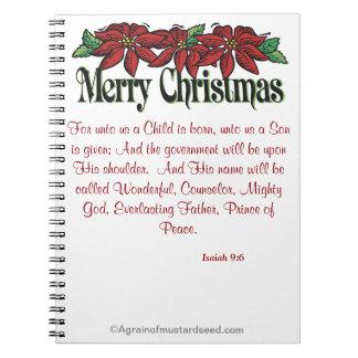 Frohe Weihnachten Notizblock