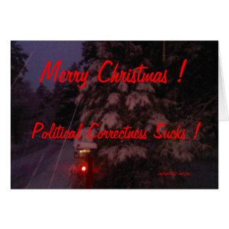 Frohe Weihnachten! Politische Korrektheit ist zum  Grußkarte