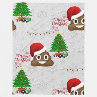 frohe Weihnachten poo emoji Decke