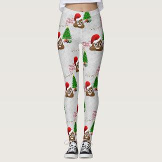 frohe Weihnachten poo emoji Gamaschen Leggings