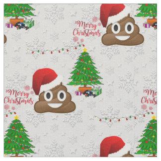 frohe Weihnachten poo emoji Gewebe Stoff