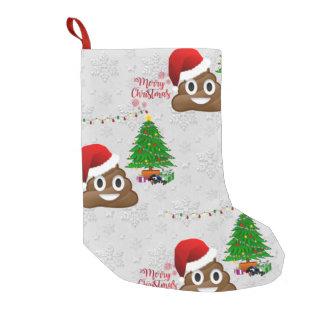 frohe Weihnachten poo emoji Strumpf Kleiner Weihnachtsstrumpf