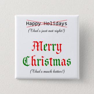 Frohe Weihnachten Quadratischer Button 5,1 Cm