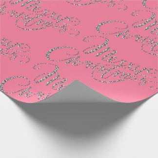 Frohe Weihnachten - rosa Leopard-Druck Geschenkpapier