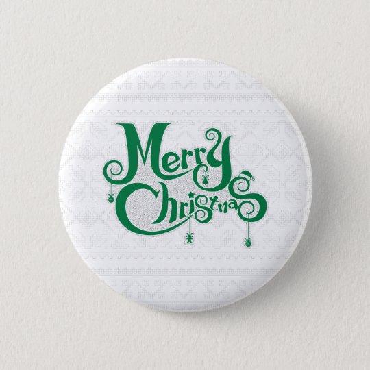 Frohe Weihnachten Runder Button 5,7 Cm