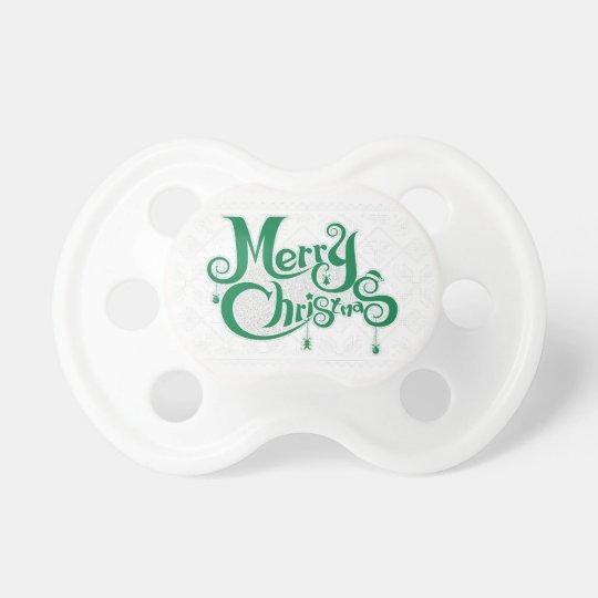 Frohe Weihnachten Schnuller