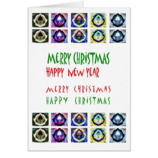 Frohe Weihnachten - Stern-Engels-Dekorationen Karte