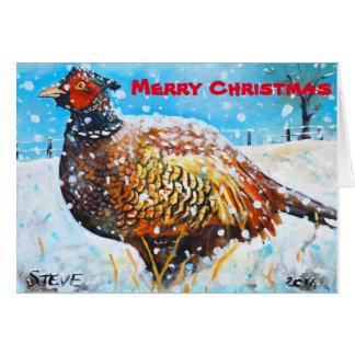 Frohe Weihnachten und ein flappy neues Jahr Karte