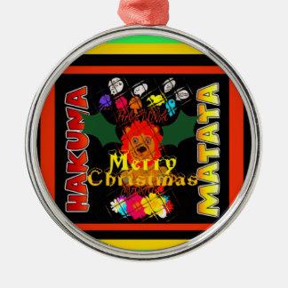 Frohe Weihnachten und ein guten Rutsch ins Neue Silbernes Ornament