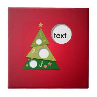 frohe Weihnachten und glückliches newyear Fliese