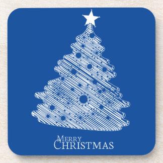 frohe Weihnachten und glückliches newyear Getränkeuntersetzer