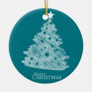 frohe Weihnachten und glückliches newyear Rundes Keramik Ornament