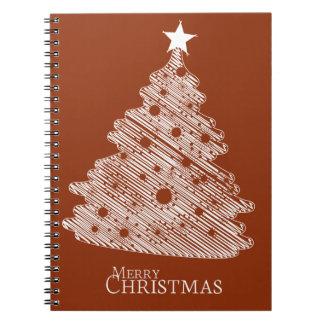 frohe Weihnachten und glückliches newyear Spiral Notizblock