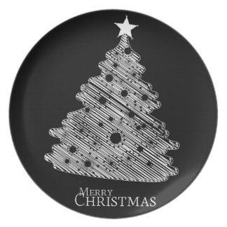 frohe Weihnachten und glückliches newyear Teller