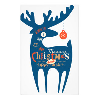 frohe Weihnachten und guten Rutsch ins Neue Jahr Briefpapier