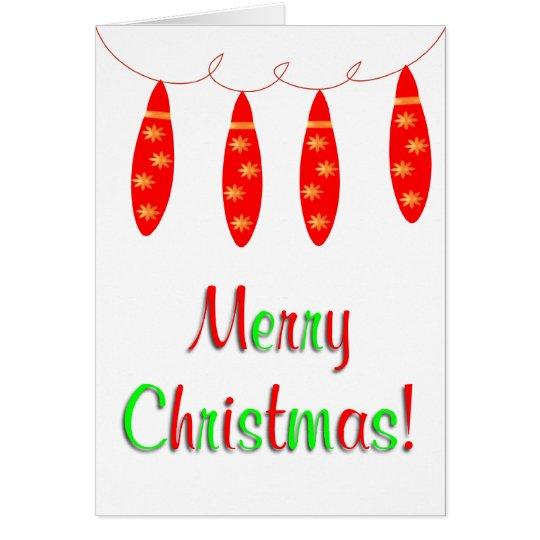 Frohe Weihnachten verzieren Karte