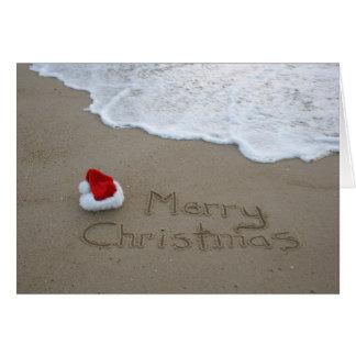 Frohe Weihnachten vom Strand Grußkarte