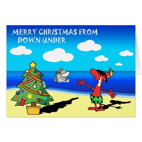 Frohe Weihnachten von der Australien-Gruß-Karte Grußkarte