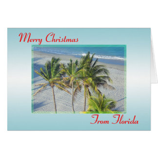 Frohe Weihnachten von der Florida-Weihnachtskarte, Grußkarte