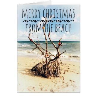 Frohe Weihnachten von der Strandkarte Karte