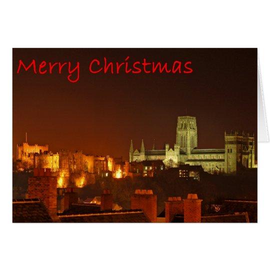 Frohe Weihnachten von Durham Grußkarte