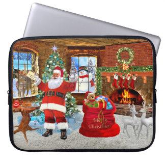 Frohe Weihnachten von Sankt Laptopschutzhülle