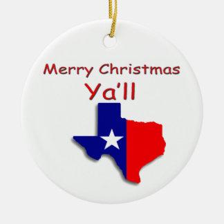 Frohe Weihnachten von Texas-Verzierung Keramik Ornament