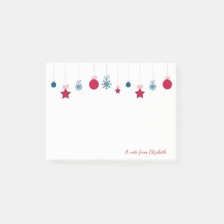 Frohe Weihnachten, Weihnachten Ball-Personalisiert Post-it Klebezettel