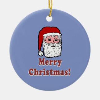 Frohe Weihnachten Weihnachtsmann Keramik Ornament