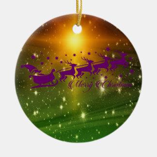 Frohe Weihnachten Weihnachtsmanns Keramik Ornament