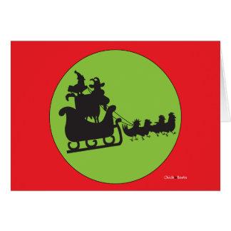Frohe Weihnachten zu allen und ganzem zu gute Karte