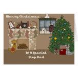 Frohe Weihnachten zu einem speziellen Schritt-Vati Grußkarte