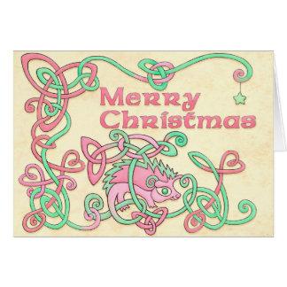 Frohe Weihnachtenceltic-Igel Karte