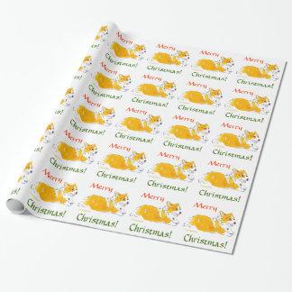 Frohe Weihnachtencorgi-Packpapier Geschenkpapier