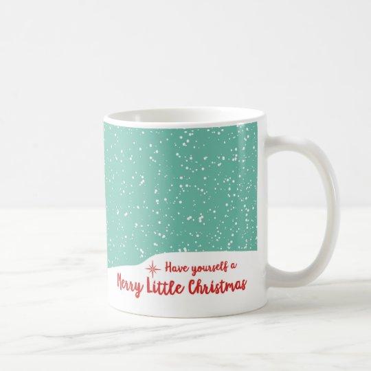 Frohe WeihnachtenSnowy Sankt Kaffeetasse