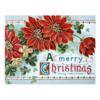 Frohen Weihnachten in 3D Postkarte