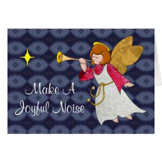 Froher Geräusch-Feiertags-Engel Karte