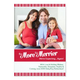 Frohere Weihnacht-Schwangerschaft, die wieder 12,7 X 17,8 Cm Einladungskarte