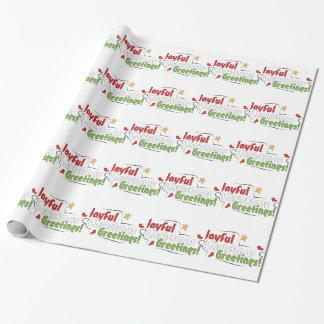Frohes Gruß-Weihnachten, das Geschenk-Papier Geschenkpapier