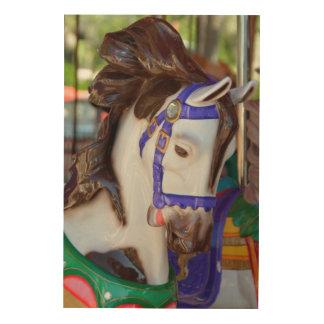 Fröhlich gehen Runden-Pferd Holzdruck