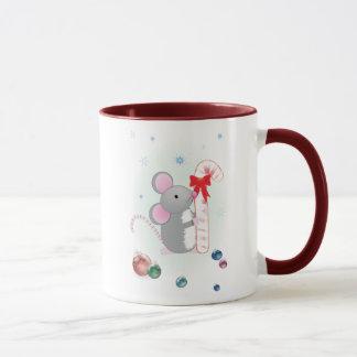 Fröhliche Chris-Maus Tasse