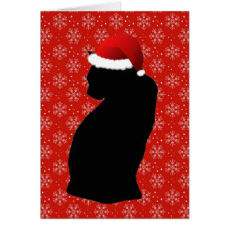 Fröhliche kleine Weihnachtskatzen-Karten Grußkarte