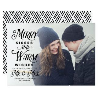 Fröhliche Küsse und wärmen Wunsch-Herrn Frau 12,7 X 17,8 Cm Einladungskarte