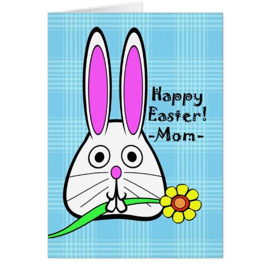 Fröhliche Ostern für Mamma, niedliches Häschen und Karte