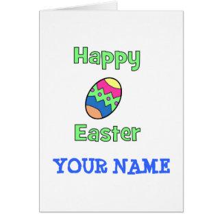 Fröhliche Ostern mit Ei Karte