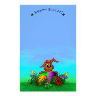 Fröhliche Ostern! Ostern-Kaninchen Personalisiertes Büropapier