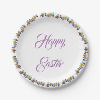 Fröhliche Ostern Pappteller