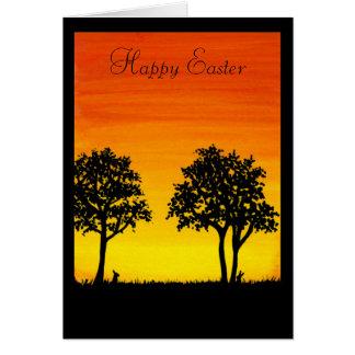 Fröhliche Ostern von unserem Hals des Holzes durch Karte