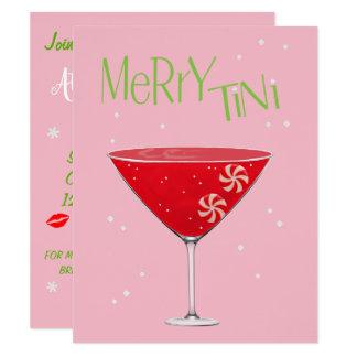 Fröhliche-tini fröhliche Martini-Feiertags-Party Karte